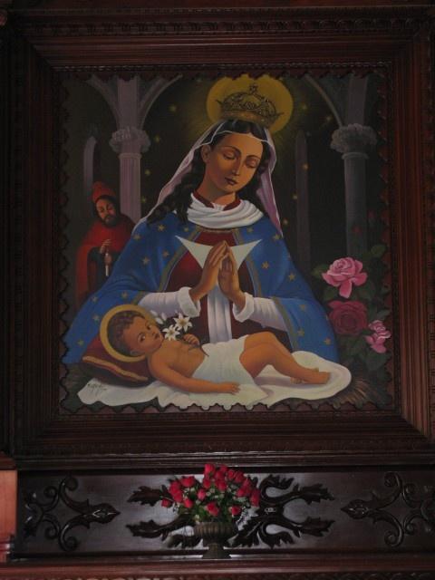 Inside the Church of San Juan de la Maguana, Dominican Republic A l' interieur de l' eglise a San Juan de la Maguana, Republique Dominicaine