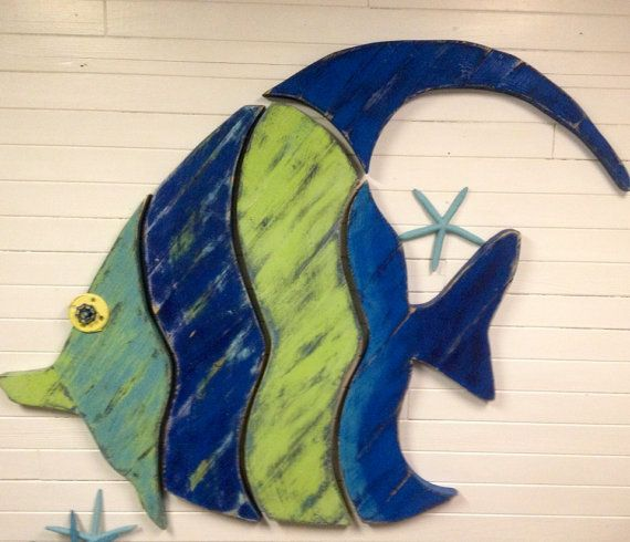 Giant Fish Art Sign Beach House Art Moorish Idol by CastawaysHall