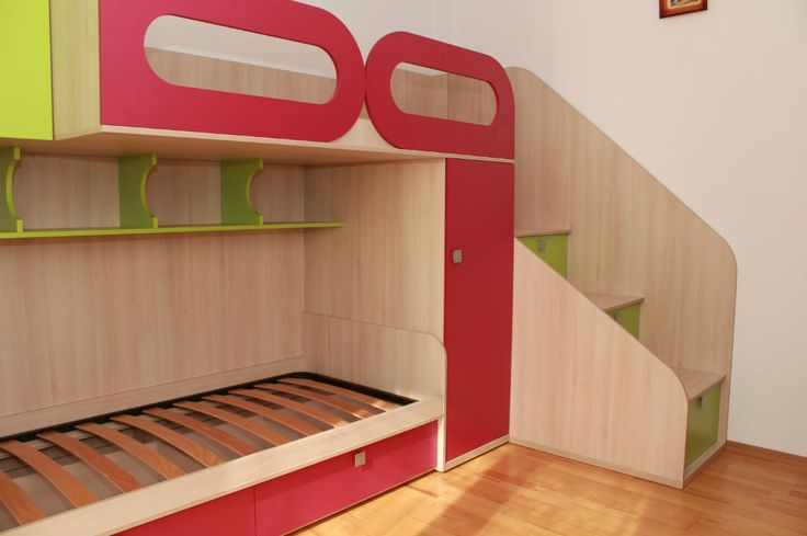 Mobila camera copii cu pat suprapus - MOBIERA Iasi