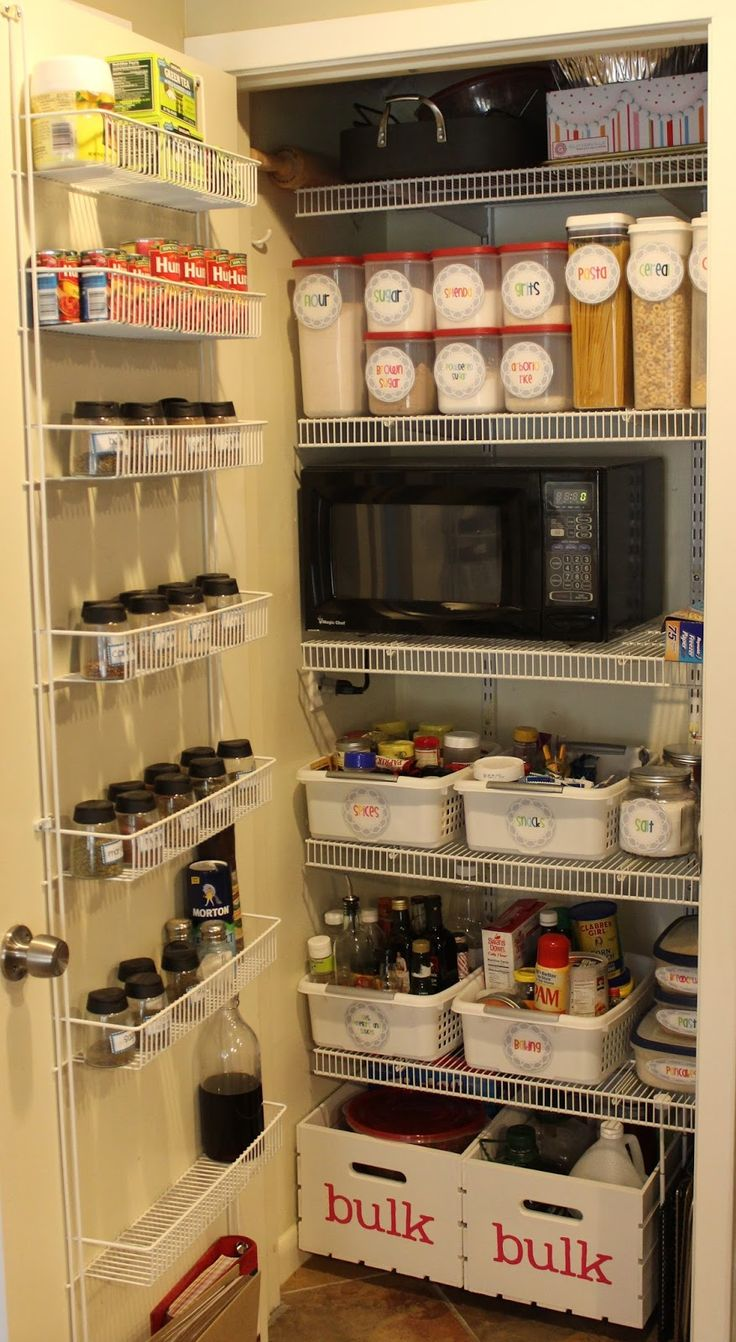 microwave in pantry