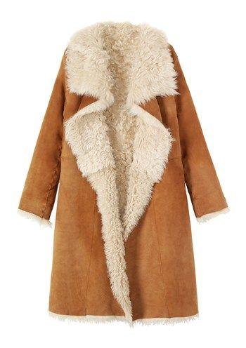 Women's Long Shearling Wrap Coat