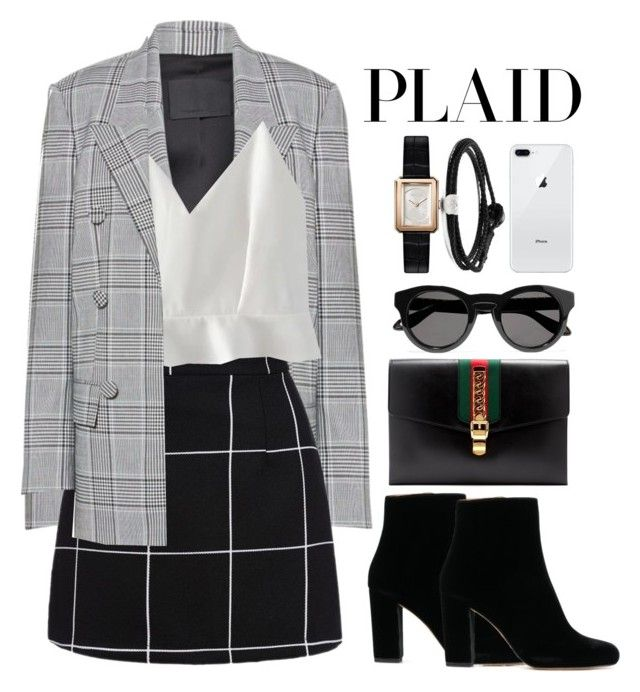 """Untitled #144"" by tiaraftm24 ❤ liked on Polyvore featuring Alexander Wang, WithChic, Gucci, Givenchy, Chanel and Lokai"