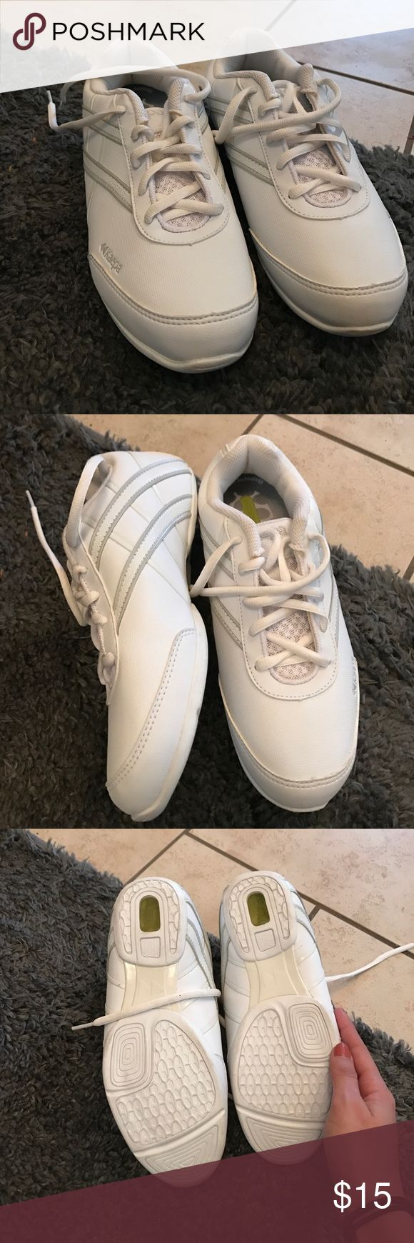 never worn cheerleading shoes!!! These are great cheerleading shoes. Ordered two for sizing and never returned, never worn!!! Make me offers!! Not Nike just for exposure Nike Shoes Sneakers