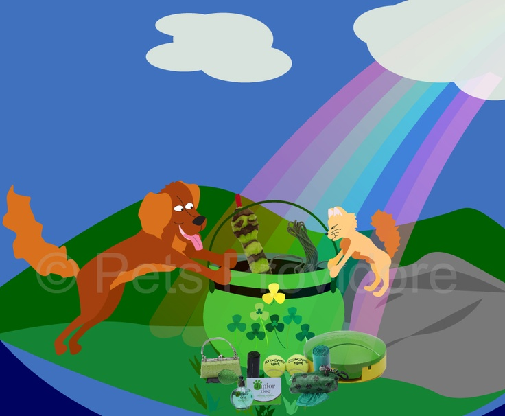 Tonic and Soda spent St Patrick's weekend following a rainbow and picking clovers! :)