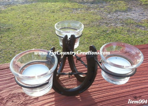 Horseshoe Candle Holder- $37.50 Country Creations