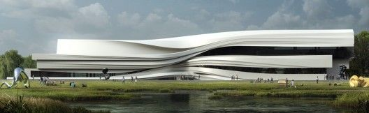 Yellow River Art Centre / Waa: Architecture Cool Building, Architecture Groovi, Artworks Architecture, Art Museums, Yellow Rivers, Design Architecture, Yinchuan Art, Art Centres, Rivers Art