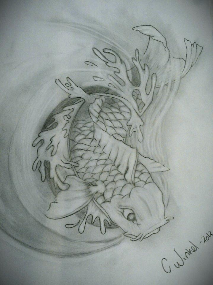 Koi fish tattoo design drawings pinterest koi fish for Koi fish tattoo designs