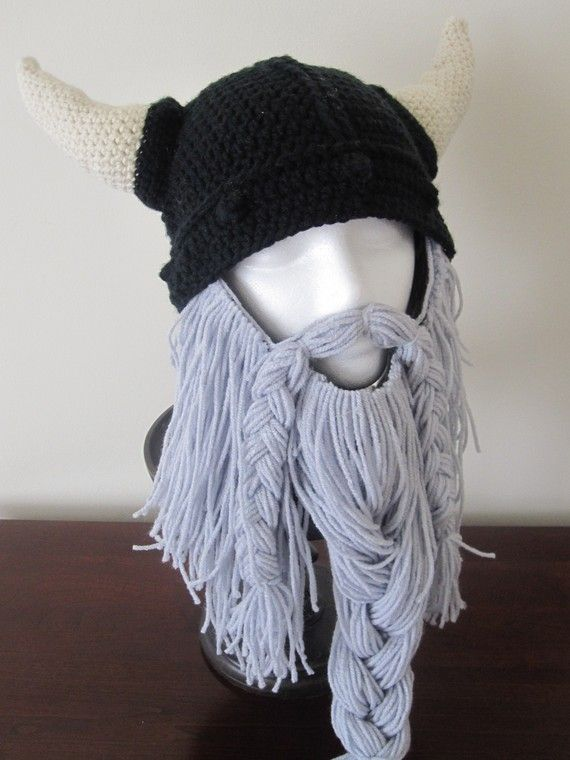 I love the bearded beanie trend since I saw it on Pinterest several months back, but this Viking one is BY FAR, my absolute fave! <3