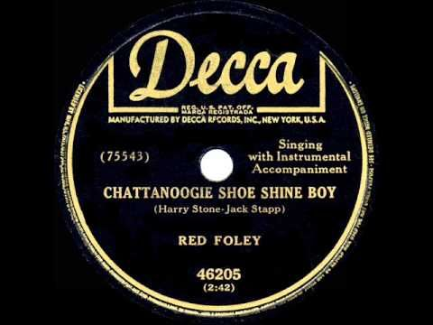 ▶ 1950 HITS ARCHIVE: Chattanoogie Shoe Shine Boy - Red Foley (a #1 record) - YouTube