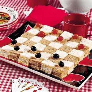 **finger sandwiches perfect for mad hatter party* Checkerboard Cheese Sandwiches | MyRecipes.com... maybe not just cheese, but I like the checkerboard idea!!!