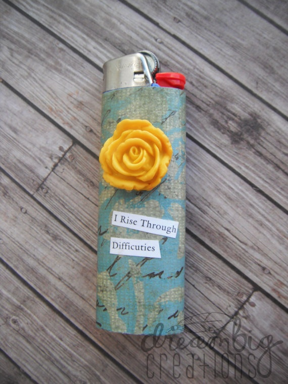 Hand decorated lighters, so cute and fashionable!
