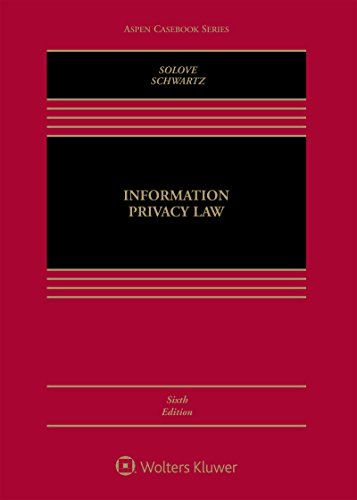 Information Privacy Law (Aspen Casebook) - This text offers a clear, comprehensive, and cutting-edge introduction to the field of information privacy law, with the latest cases and materials exploring issues of emerging technology and information privacy. Extensive background information and authorial guidance provide clear and concise in...