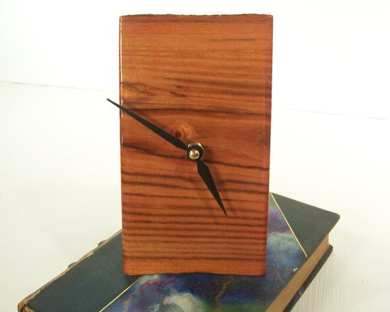 Wood Desk Clock  Desk Clock Mantel Clock by MountainMiraclesUS