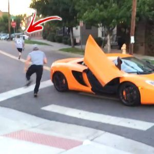 Driver of this $250000 McLaren ran a stop sign and caused a teen to fall off his skateboard in the #news #alternativenews