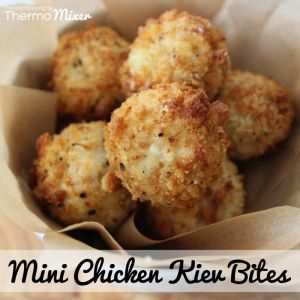 We love Chicken Kievs here. These Mini Chicken Kiev Bites are a twist on these. These are a delicious bite