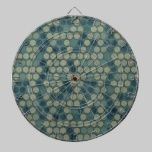 Contemporary Turquoise Dot Pattern dartboards