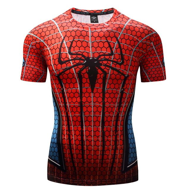 Spiderman 3D Printed T Shirt Compression 2017 Crossfit Fitness //Price: $19.95 & FREE Shipping //