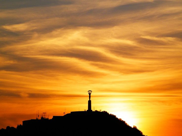 Citadella, Liberty Statue, Budapest. #Budapest #Hungary #sunset #Europe #landmark