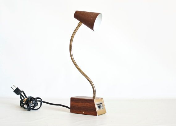 sold $24 Vintage 1960s TENSOR Lamp Small Brown Desk Lamp by TheWildWorld