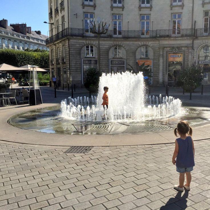 #canicule place Graslin à #Nantes