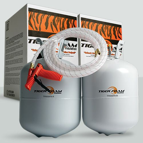 Tiger Foam™ Fast Rise Formula - 600 Bd/Ft. Premium Spray Foam Insulation Kit