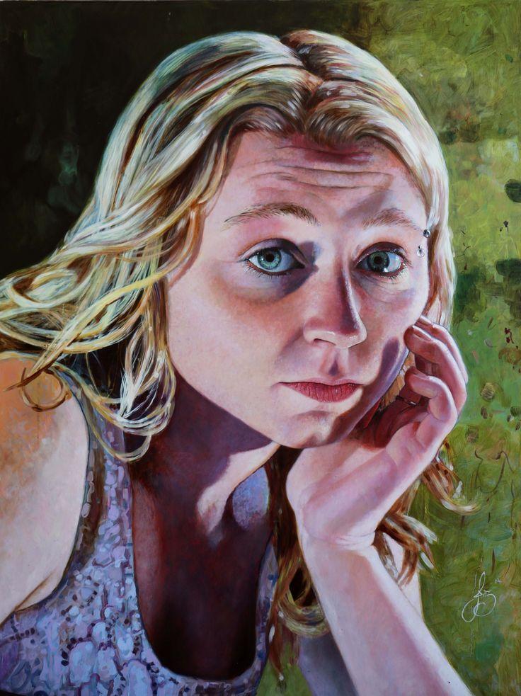 Jasmine Middlebrook - Written or Spoken (2014) Acrylic on board - http://nzartsite.com/exhibitions/jasmine-middlebrook