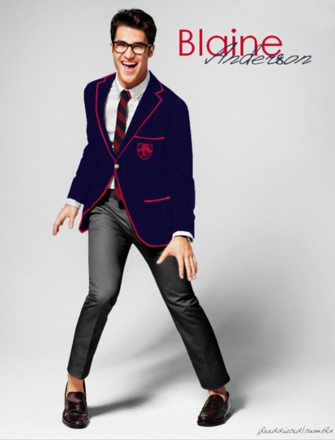 Darren Criss as Blaine Anderson. Glee.