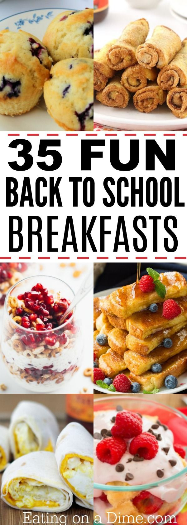 Here are some easy breakfast recipes for busy school mornings. Try one of these 35 of the best back to school breakfast ideas. (Breakfast Recipes Quick)