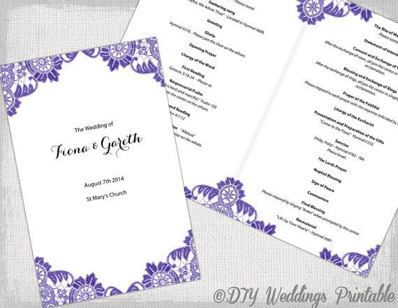 catholic wedding programs