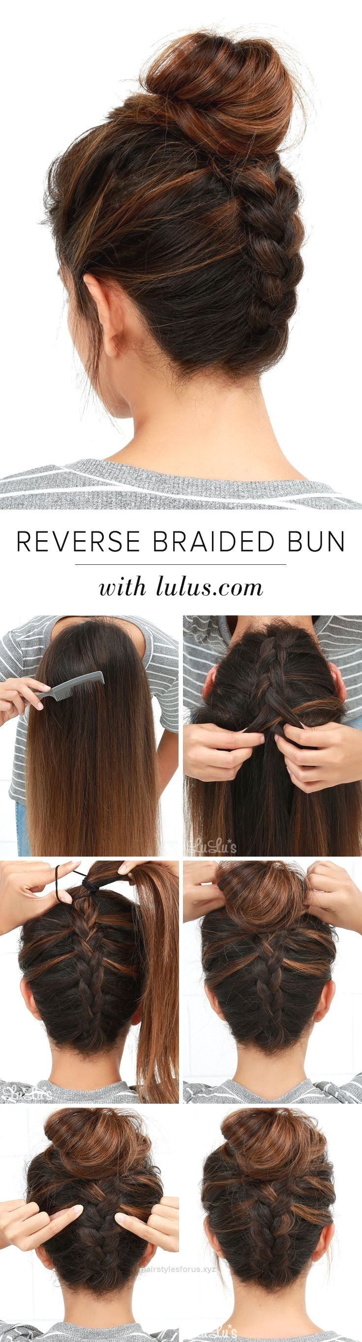 Unbelievable LuLu*s How-To: Reverse Braided Bun Hair Tutorial at www.lulus.com! The post LuLu*s How-To: Reverse Braided Bun Hair Tutorial at www.lulus.com!… appeared first on Hairstyles .