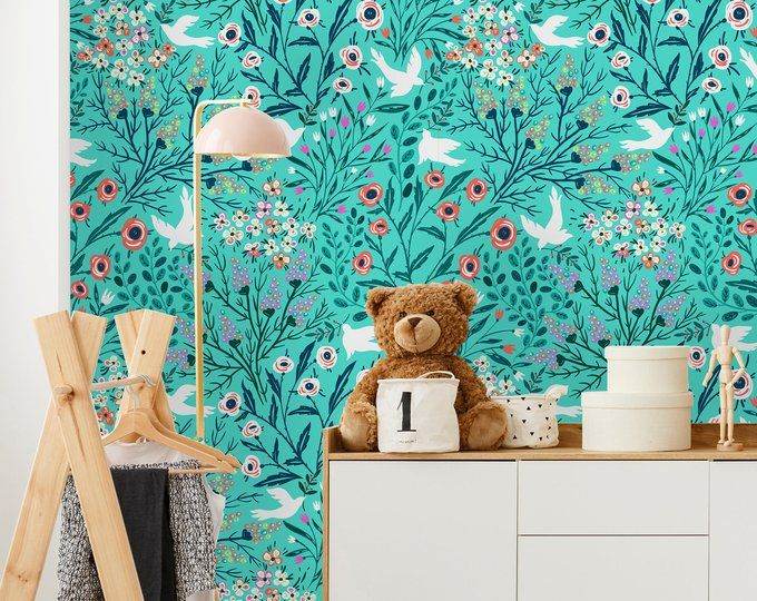 Removable Wallpaper Peel And Stick Wallpaper Self Adhesive Etsy Wallpaper Removable Wallpaper Peel And Stick Wallpaper