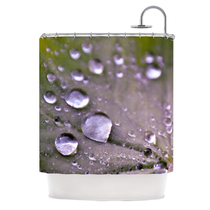 "Iris Lehnhardt ""Water Droplets Purple"" Lilac Shower Curtain from KESS InHouse"