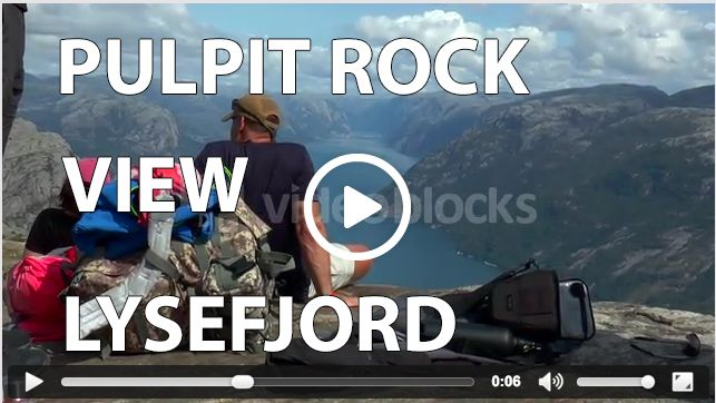 The view from the Pulpit Rock, or Preikestolen, is like a dream. Look how people enjoy watching the view from the famous Pulpit Rock over Lysefjord in Rogaland!