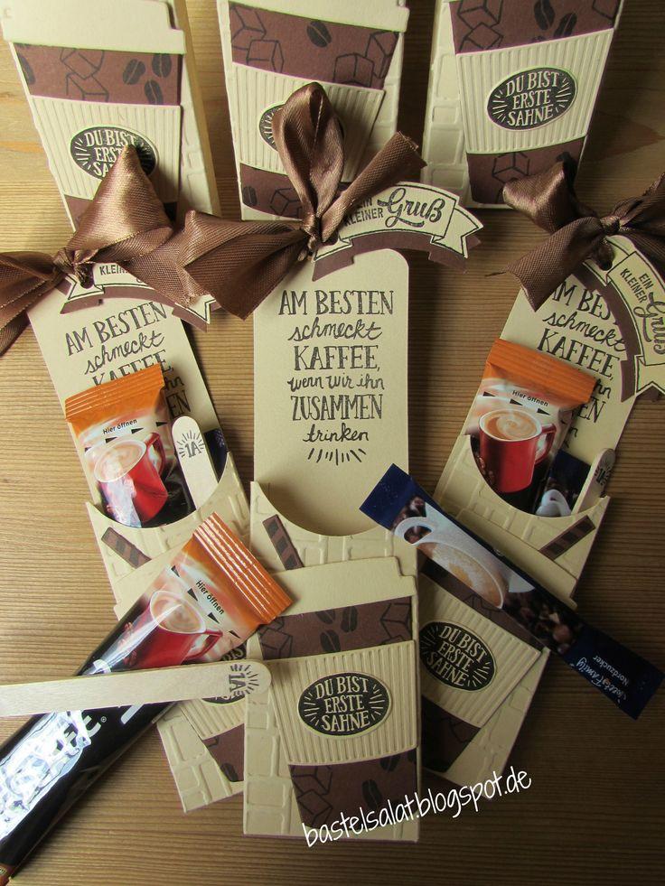 2 Version der Verpackung für einen Kaffee Stick .... Stampin' Up!