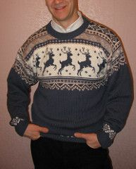 Ravelry: 32-10 Sweater and hat with reindeer pattern by DROPS design