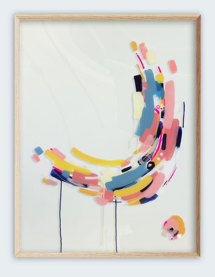 art: «Ces Summer Days '- art abstrait d'origine sur perspex par la Nouvelle-Zélande artiste, Jen Sievers.  Cette oeuvre explore le mouvement, l'isolement et la connexion.  L'œuvre attrape un moment dans le temps, congelé et flottant sur le substrat clair.  760mmx1000mm sur perspex 2mm.  Artiste: Jen Sievers Tumblr: http://jensievers.tumblr.com/