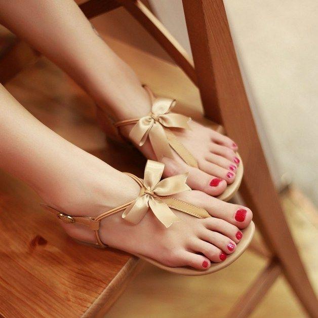 Sandalen - Sommer Flip Flache Sandalen - ein Designerstück von edlwise bei DaWanda