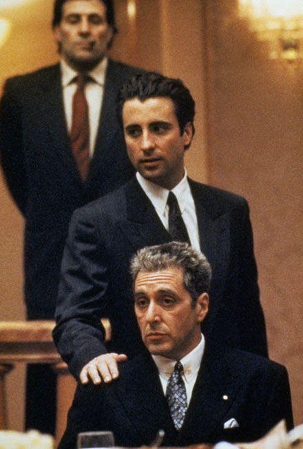 The Godfather, Part III, Starring: Al Pacino, Andy Garcia, Eli Wallach, Talia Shire and Diane Keaton.