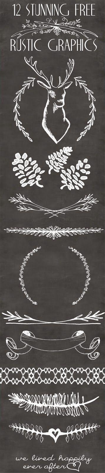 Xmas Diy & Craft: Stunning Free rustic Christmas graphics!