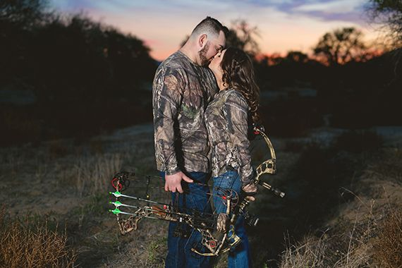 The Hunt Is Over Hunting Engagement Pics Photos  Erin Hughes Photography Southern California SoCal Bowhunting