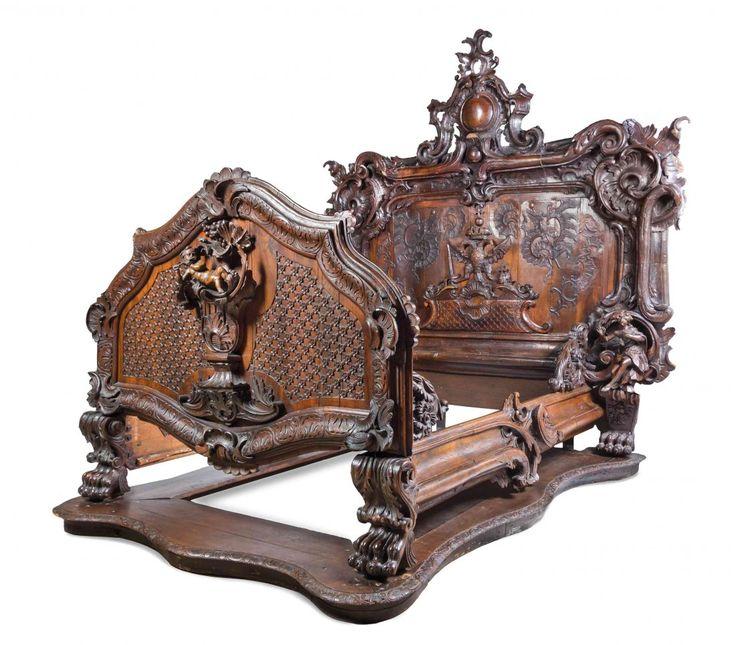 A Baroque Revival Carved Oak and Walnut Bed, PROBABLY AUSTRIAN · Baroque  FurnitureFine FurnitureVintage ... - 114 Best Intricately Carved/Ornate Antique Furniture Images On