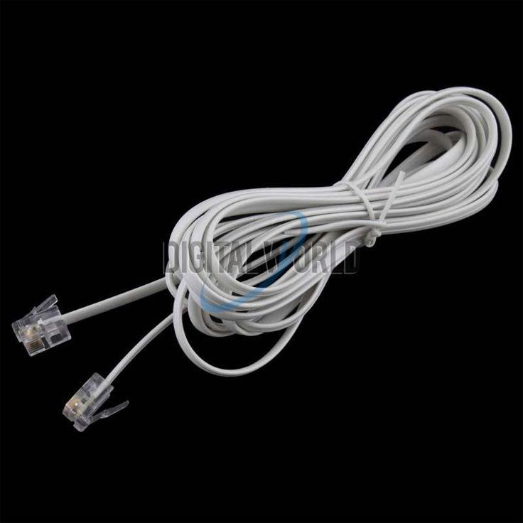 1 STKS Hoge Snelheid 10FT 3 M RJ11 6p4c telefoon Telefoon ADSL Modem Line Cord Kabel 4 Pin #22514