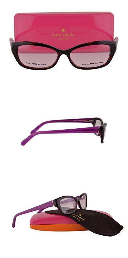 0e63f57e90b Kate Spade Eyeglasses Catalina 51-14-135 Havana Purple 0FN3 in 2018 ...