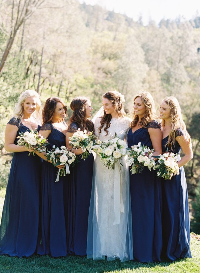 The 25  best Midnight blue bridesmaid dresses ideas on Pinterest ...