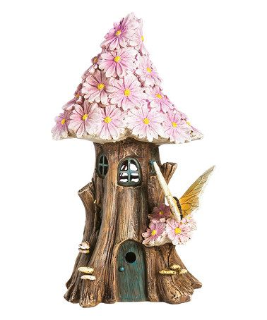 Love this Pink Spring Petals Light-Up Fairy House Garden Décor on #zulily…