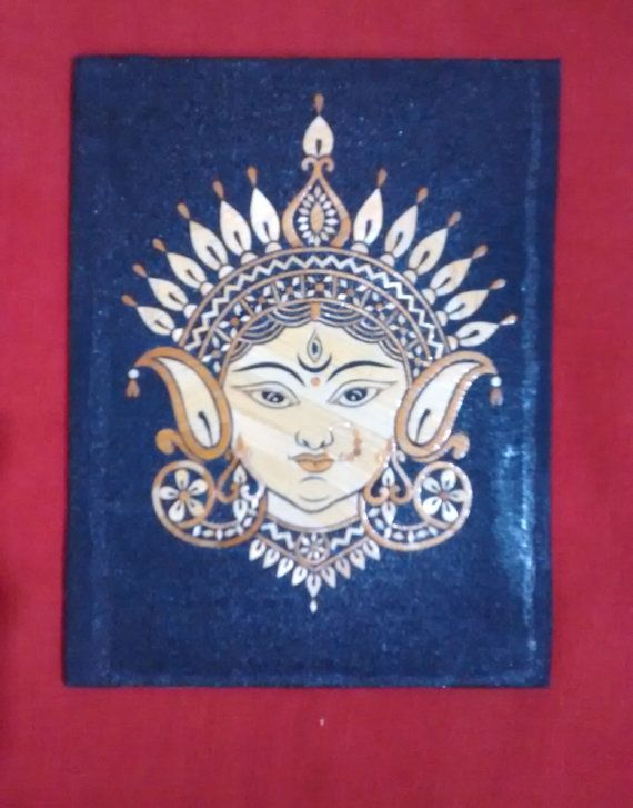 A beautiful wall hanging of Goddess Durga in by PattachitraNet