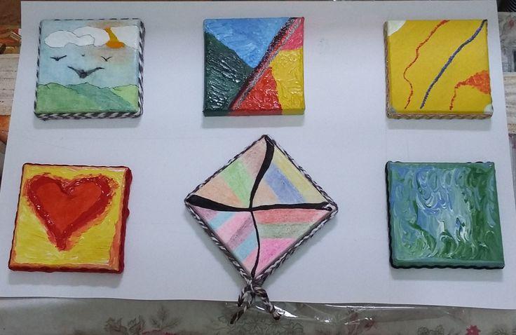 Série de pequenos quadros com temas do Tarot.