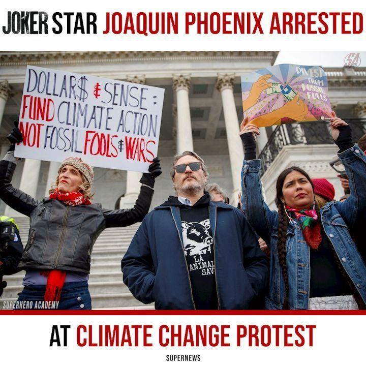 Joker Star Joaquinphoenix Was Arrested During A Protest On Capitol Hill In Washington D C With A Fan Having Superhero Academy Joaquin Phoenix Wonder Woman