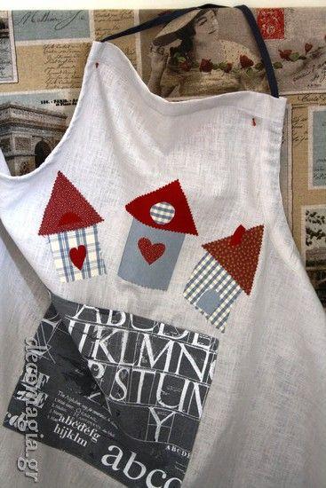 Kitchen towel dress with cucito creativo~Ποδιά για την κουζίνα!