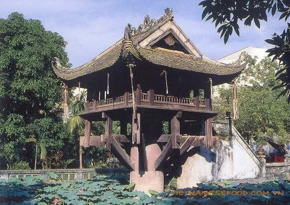 One Pillar Pagoda (Chùa Một Cột) from http://www.vietnamesefood.com.vn/vietnam-attractions/vietnam-popular-destinations/one-pillar-pagoda-chua-mot-cot.html